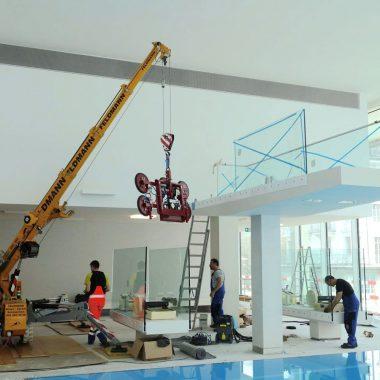 Industry:Montering  av  glass